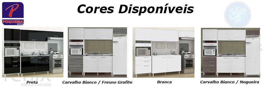 Jogo Cozinha Carla Compacta Kit 4 Pçs Balcão Armário Bancada (Fórmica) a BRL  # Armario De Cozinha Compacta Carla